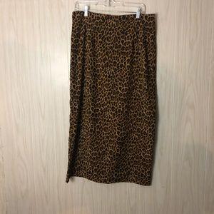 Briggs New York Size 14 Cheetah Print Skirt